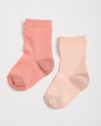 2 paires de chaussettes roses