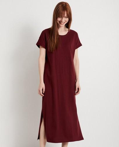 fe04e0051854c4 Bordeaux maxi-jurk Karen Damen