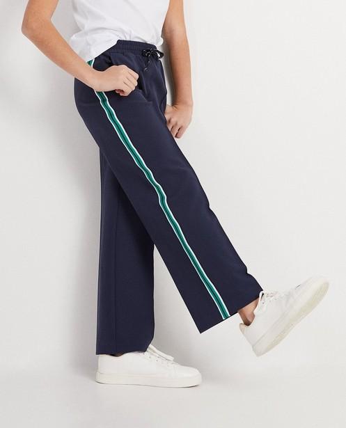 Shorts - Navy - Weiche Hose mit Streifen Campus 12