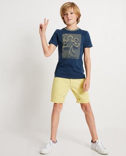 T-shirt bleu pétrole, imprimé I AM