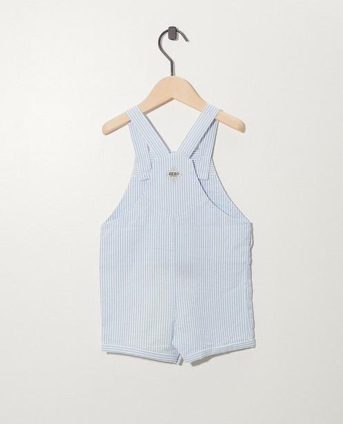 Shorts - Salopette blanche à rayures bleues