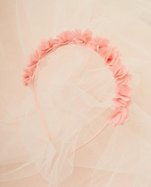 Diadeem met chiffon bloemen - en satijnlook - Milla Star