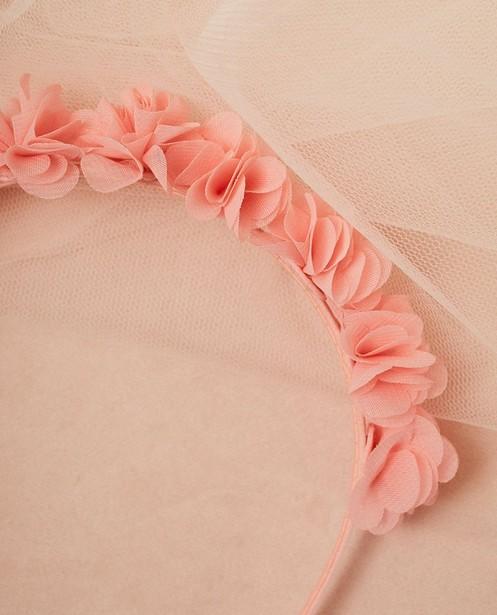 Juwelen - Diadeem met chiffon bloemen