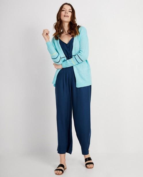 Gilet bleu rayé I AM - fin tricot - I AM