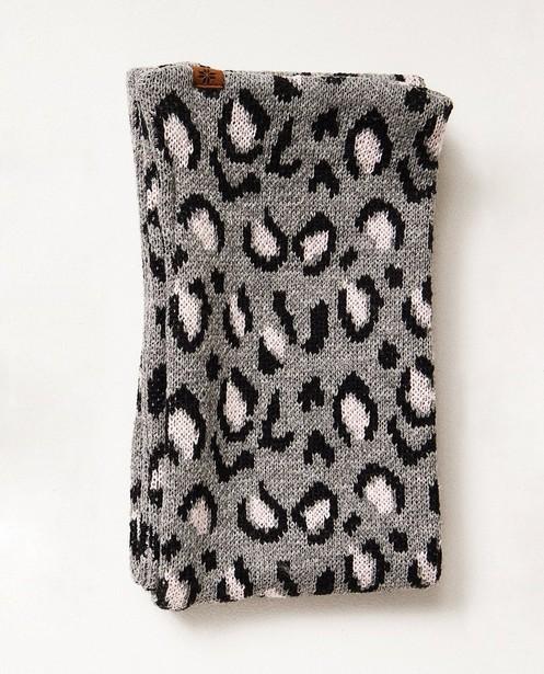 Écharpe grise - avec un imprimé léopard - JBC