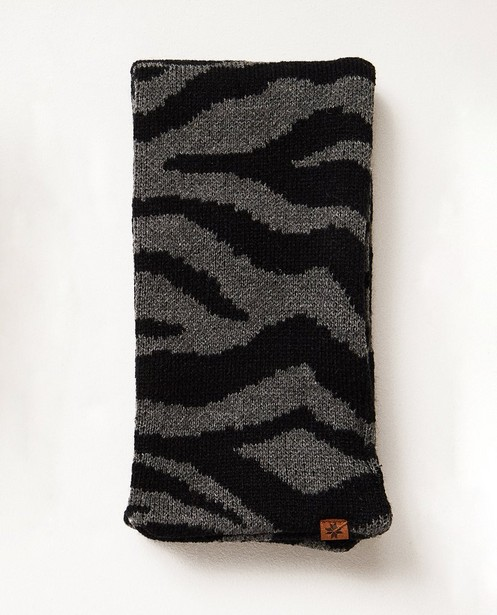 Écharpe grise - imprimé tigré - JBC