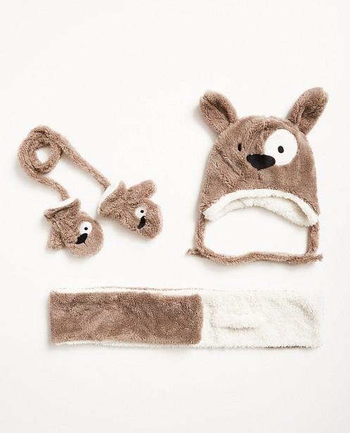 Set van sjaal, muts en wanten - hond - JBC NL