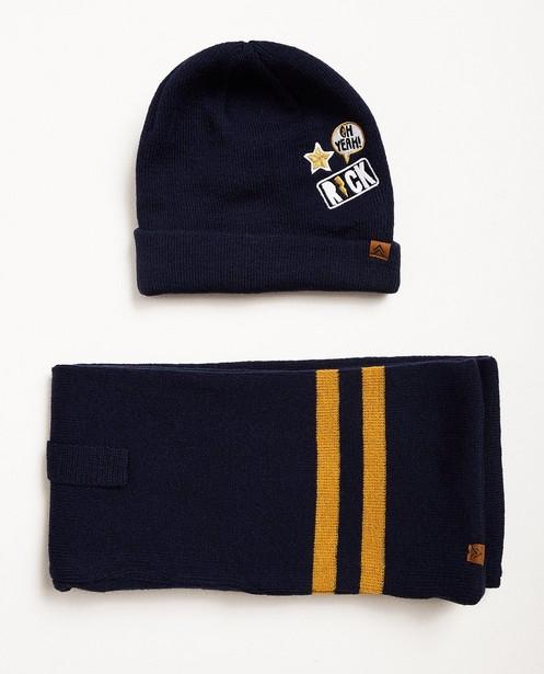 Écharpe et bonnet - bleu nuit - JBC