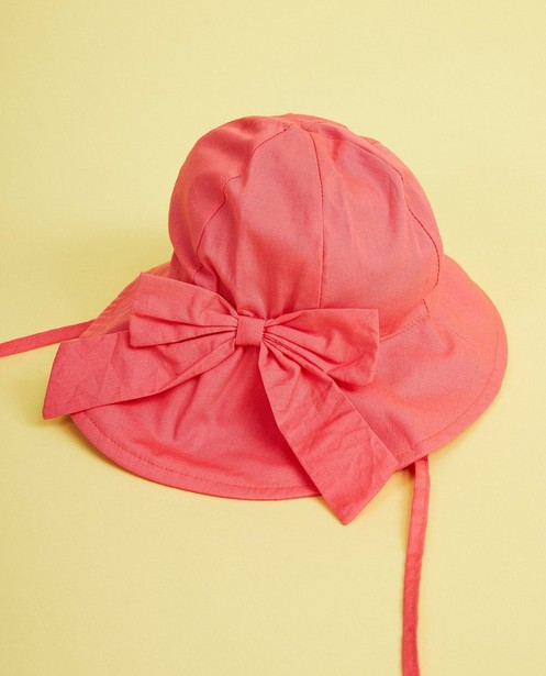 Chapeau rose, nœud papillon - avec protection de nuque - JBC
