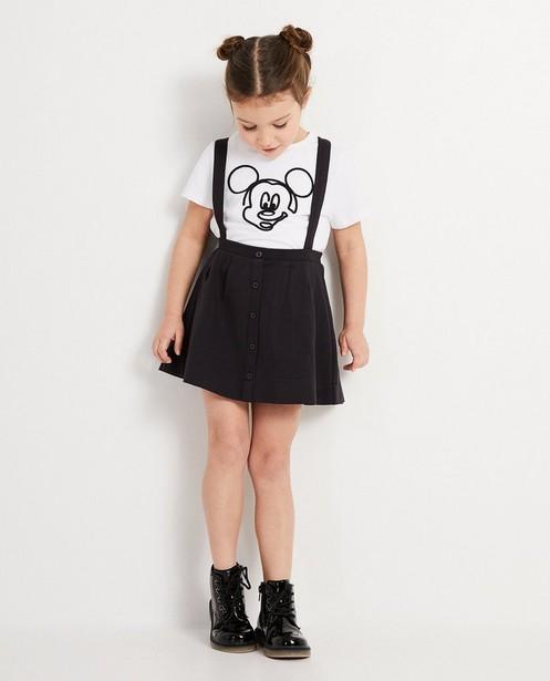 Wit T-shirt met print Mickey, 2-7 jaar - met zwart koord - Mickey
