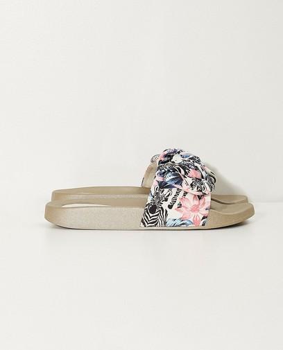 Slippers met print