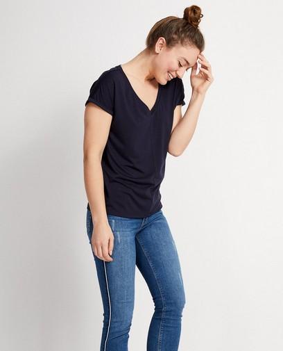 Donkerblauw T-shirt Sara De Paduwa