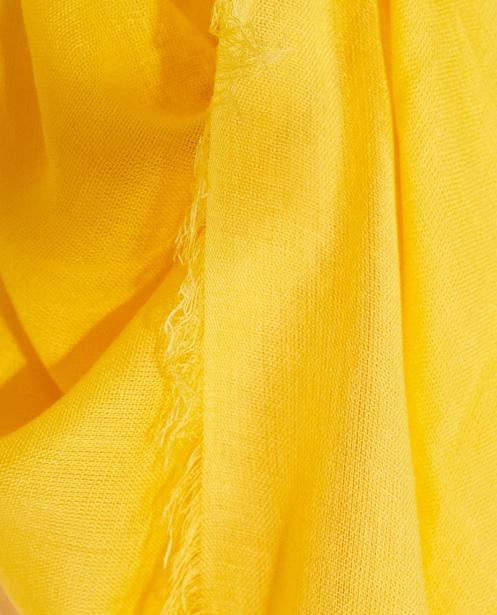 Strickware - Knallgelb - Schal aus Viskose