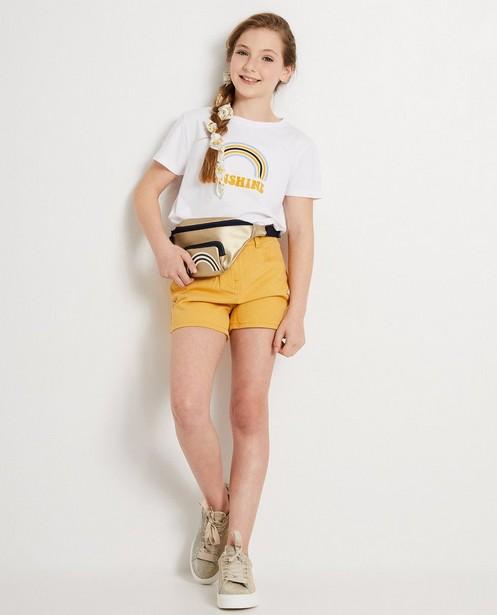 Okergele korte short - jeans - JBC