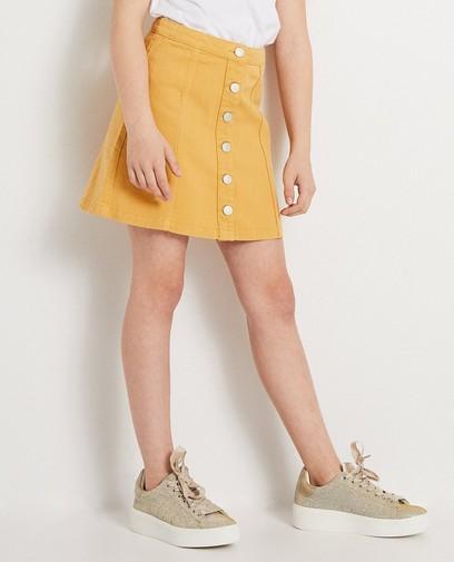 Gele jeansrok met knopen
