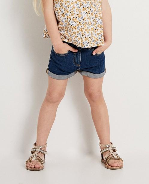 Shorts - aqua - Blauwe short van dry denim
