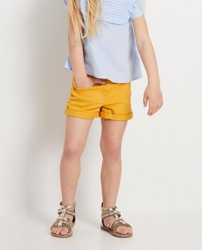 Okergele jeans short