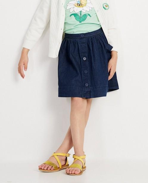 Rokken - BLD - Donkerblauwe rok van denim Maya