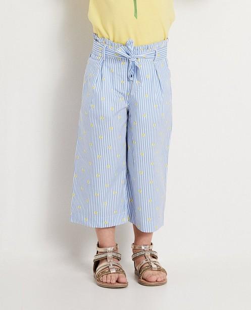 Broeken - Blauwe broek met strepen Heidi
