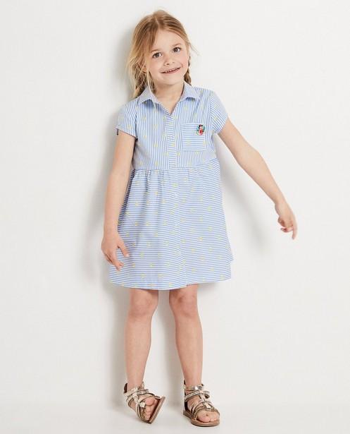 Blauw jurkje met strepen Heidi - null - Heidi