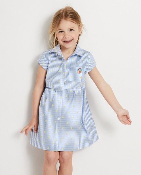 Kleedjes - Blauw jurkje met strepen Heidi