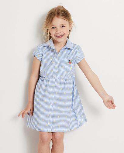 Blauw jurkje met strepen Heidi
