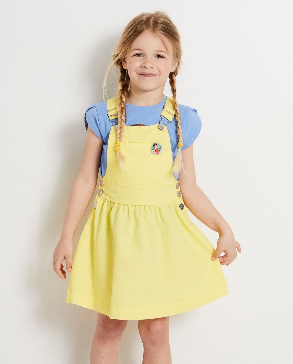 Kleedjes - GLM - Gele salopettejurk Heidi
