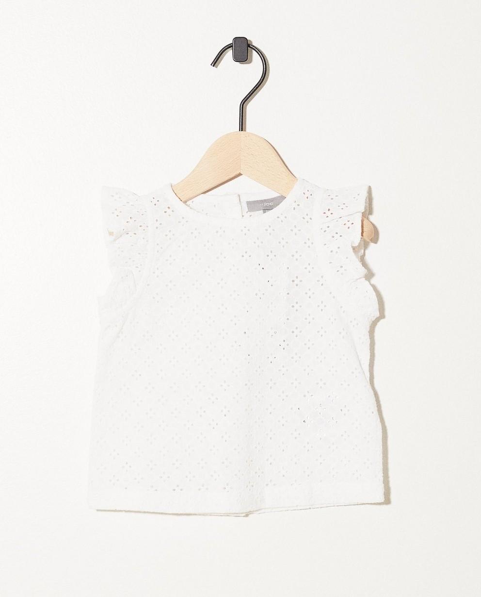 Top blanc, broderie anglaise - motif intégral - JBC