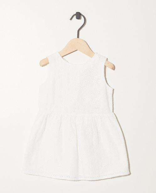 Robe blanche, broderie anglaise - motif intégral - JBC