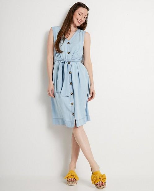 Lichtblauwe jurk van lyocell - jeanslook - JBC