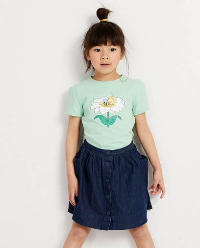 Mintgroen T-shirt met print Maya