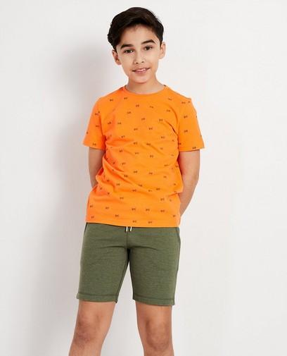 Oranje T-shirt met print BESTies