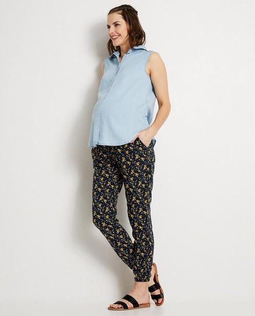 Top bleu en lyocell JoliRonde - blouse de grossesse - Joli Ronde
