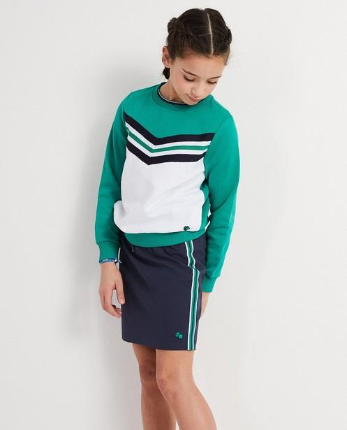 Sweater - Grün - Colour-Block-Sweater Campus 12