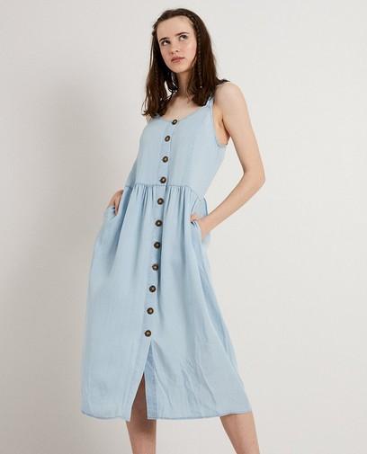 Lichtblauwe jurk van lyocell