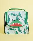 Trousse de toilette verte - imprimé de crocodiles - JBC