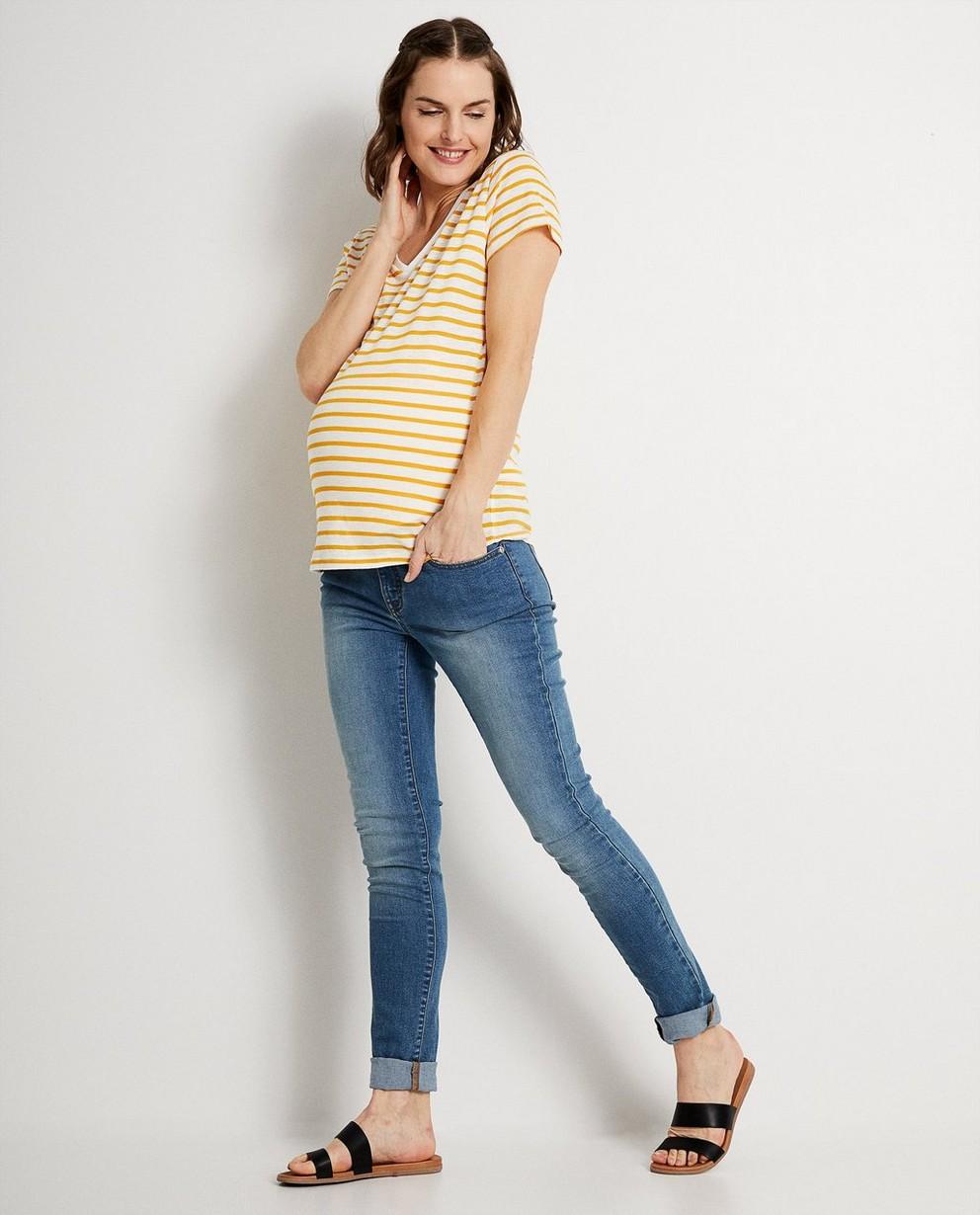 T-shirt à rayures jaunes JoliRonde - imprimé intégral - Joli Ronde