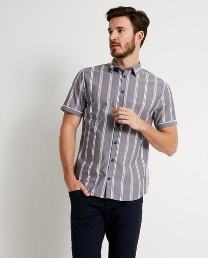 Chemise grise rayée