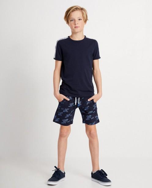 Marineblauw T-shirt - met tekst - JBC