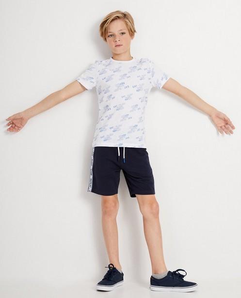 Wit T-shirt met print - allover - JBC