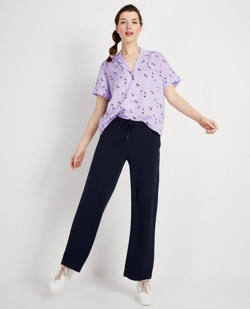 Chemise lilas, imprimé fleuri - à manches courtes - JBC