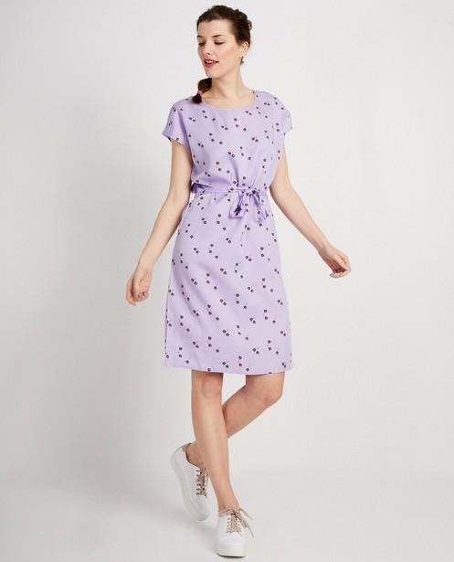 Lila jurk met bloemenprint - met allover print - JBC