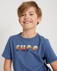T-shirts - Wit T-shirt met strepen 7-14 jaar