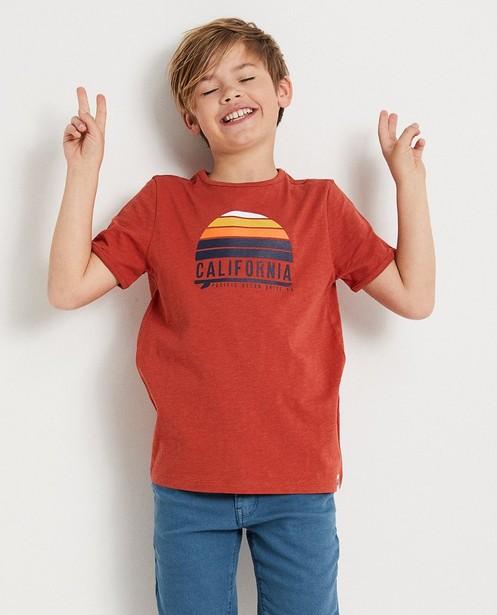 T-shirts - BLM - Wit T-shirt met strepen 7-14 jaar