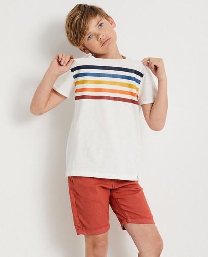 T-shirt blanc rayé, 7-14 ans