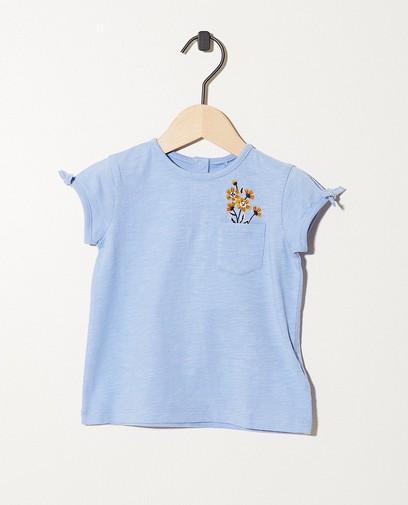 T-shirt bleu clair en coton bio