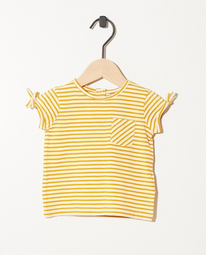 T-shirt ocre en coton bio