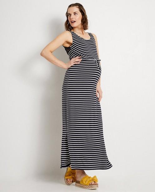 Donkerblauwe maxi-jurk JoliRonde - met strepen - Joli Ronde