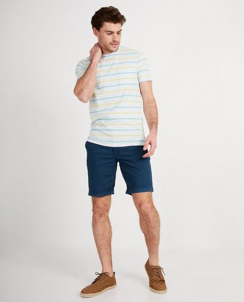 T-shirt blanc en coton bio I AM - rayures - I AM