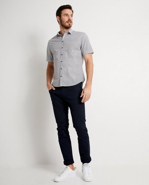 Chemise blanche, imprimé graphique - à manches courtes - JBC